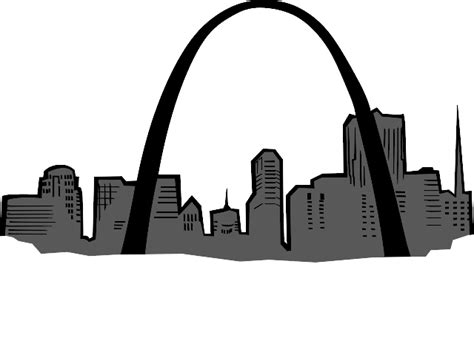 st louis cardinals with arch clipart best