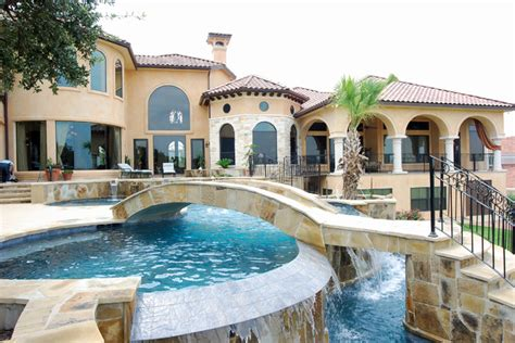 home with pool swimming pools by stadler custom homes mediterranean