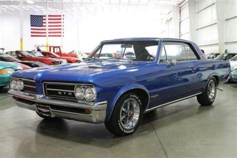 buy used 1964 blue pontiac gto tri power 4 speed ps pb disc phs document 400 cu in