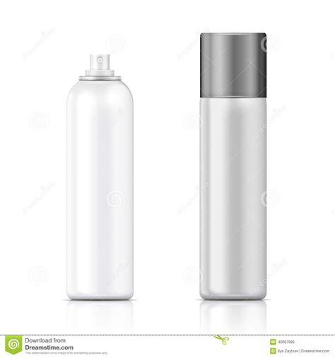bottle design template white and silver sprayer bottle template stock vector