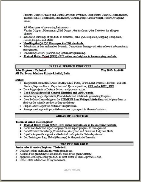 sle of formal resume sales manager resume sle