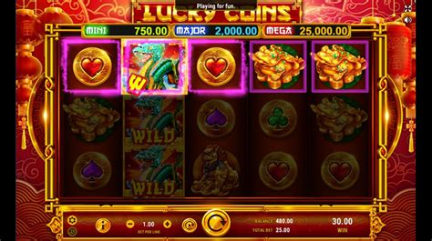 play lucky coins video slot  cyberspins