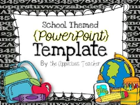 Back To School Powerpoint Template By The Applicious Teacher Tpt Elementary School Powerpoint Templates