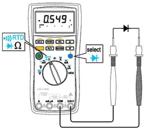 how to test diode polarity aktakom am 1108 digital multimeter t m atlantic