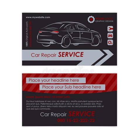 card template mechanic auto mechanic business card template auto repair business