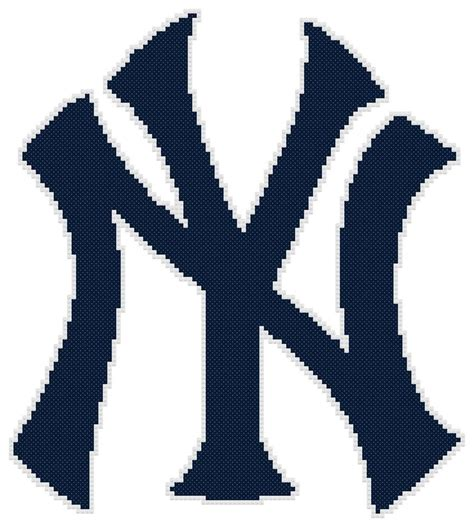 pattern for logo counted cross stitch pattern new york yankees logo free