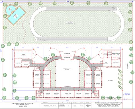 layout plan of school building in india proposed design of school azad india foundation
