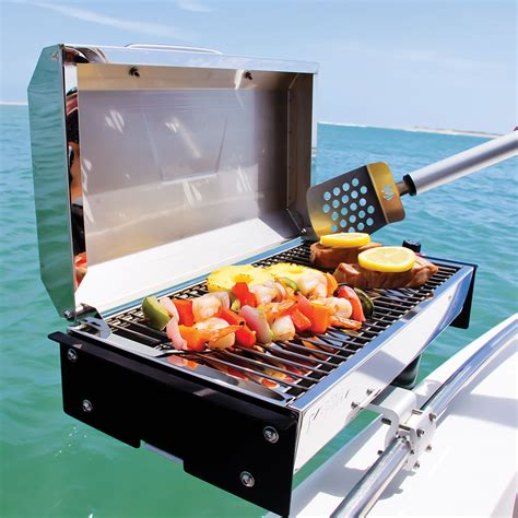 grill on a pontoon boat boat grills bbq equipment on the water boats