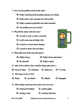 genre quiz multiple choice by kristin reinhardt tpt big bushy mustache reading comprehension vocabulary test