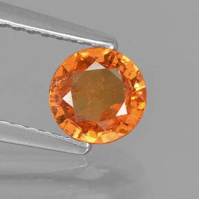Spessartite Garnet 8 76ct 0 8 carat 5 63mm 0 and untreatedorange