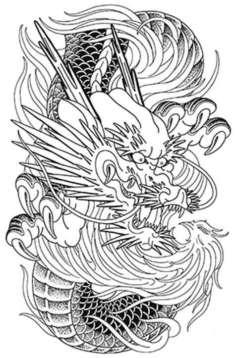 龍と火の鳥 タトゥースケッチ 大阪 lucky round tattoo 刺青