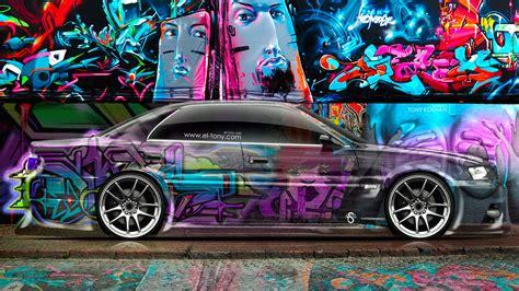 graffiti wallpaper car toyota chaser jzx100 jdm side crystal graffiti car 2014