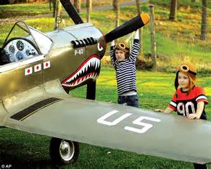 Pictured: The World War II replica PLANE built by retiree