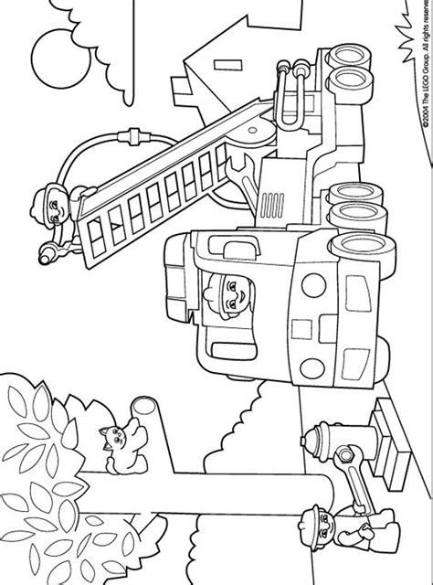 lego duplo coloring pages 10 feuerwehr polizei