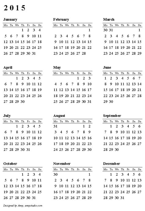 2015 calendar template printable 10 calendar 2017 2018