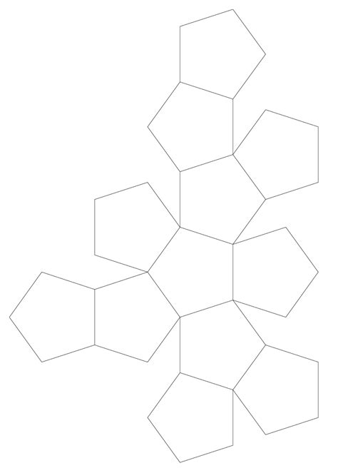 Dodecahedron Template Printable Images - dodecahedron