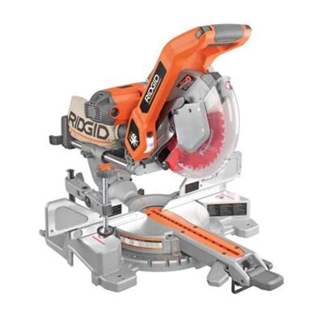 ridgid 10 in sliding compound miter saw with dual laser