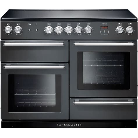 electric induction range cookers 110cm buy rangemaster nex110eisl c nexus 110 induction slate 110cm electric induction range cooker