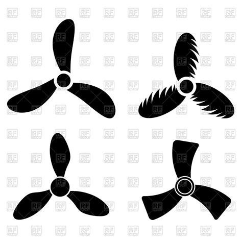 boat propeller artwork set of propeller icons vector image vector artwork of