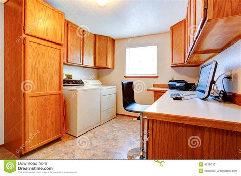 Office Room Cabinets by Office Room With Maple Cabinets Stock Photo Image 47580301