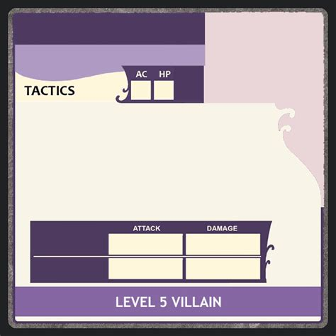 powers card template gloom of kilforth castle ravenloft villain and power card