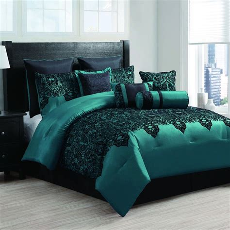 teal bed sheets mischa teal 10 piece embroidered comforter set 200 00