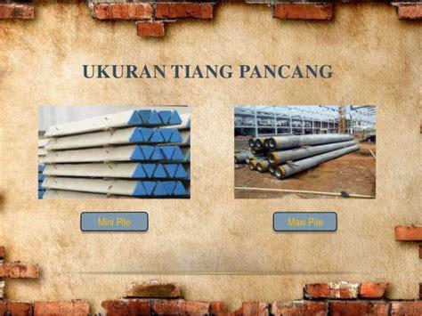 Pasaran Mini 1 pondasi tiang pancang beton