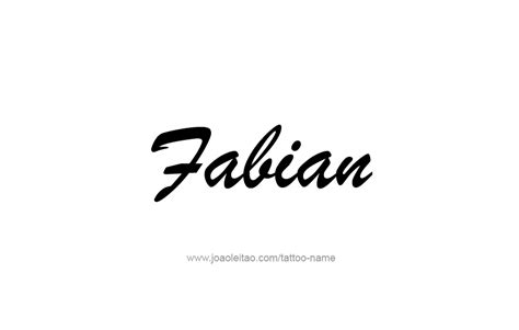 fabian name tattoo designs