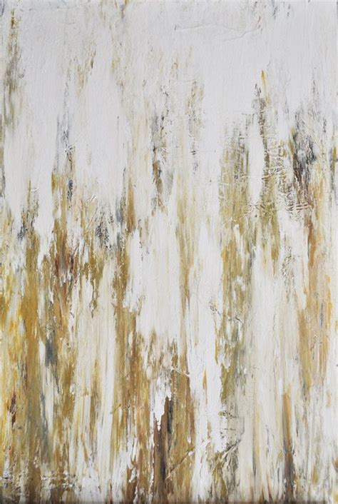 gold abstract painting disposition original abstract painting in white