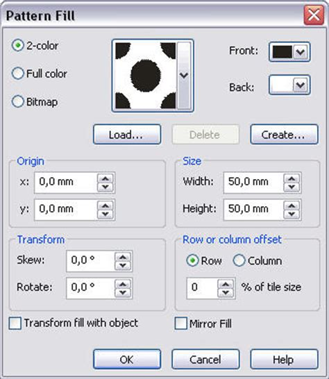 pattern fill coreldraw x6 create two color patterns in coreldraw web to print and