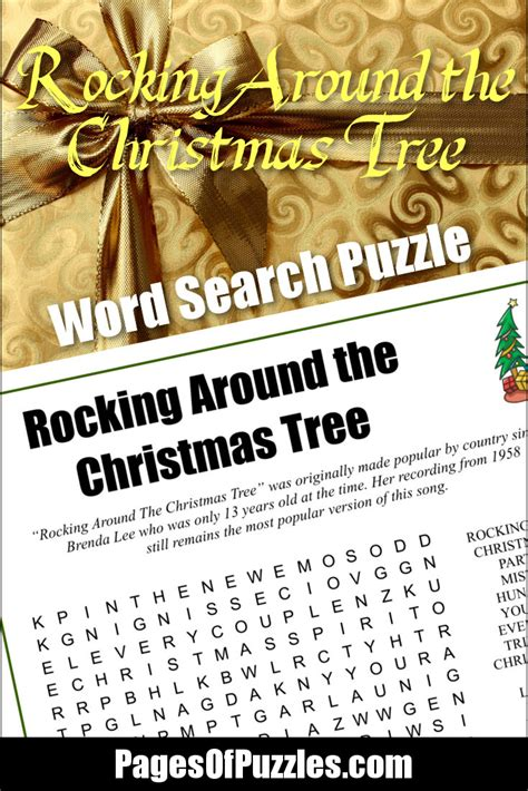 rocking around the christmas tree word search pages of