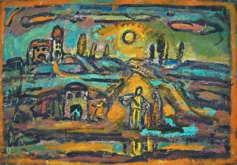 georges rouault paysage biblique route  peupliers sol flickr