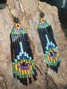 How To Make Native American Jewelry - native american beaded earrings peacock feathers jstinson jewelry on artfire