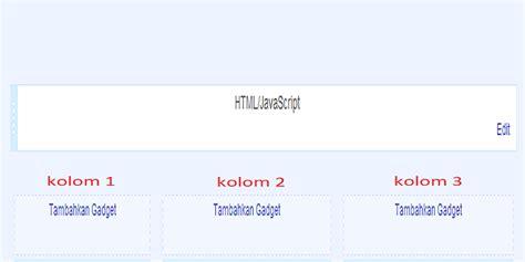 membuat kolom header di html cara membuat 3 kolom gadget dibawah header download gratis