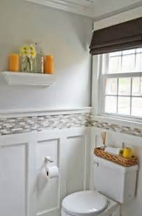Makeover Bathrooms - bathroom makeover white paint powder room before and after house beautiful put a ledge on