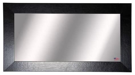 Wide Vanity Mirror by American Made Black Wide Leather Vanity Wall
