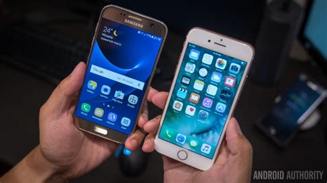 Samsung S7 Vs Iphone 7 samsung galaxy s7 vs apple iphone 7 android authority
