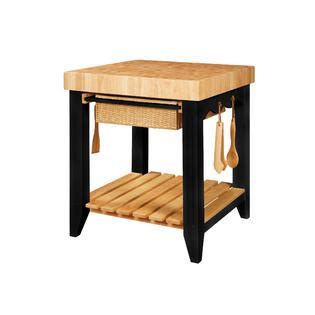 powell color story black butcher block kitchen island l powell color story black butcher block kitchen island