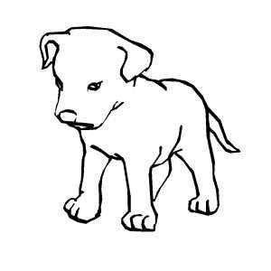 sad dog coloring page sad puppy coloring page