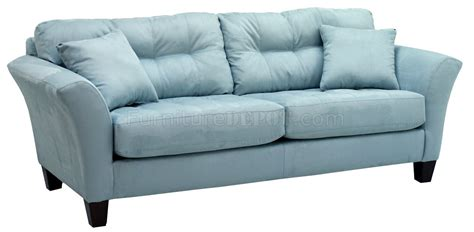 pale blue couch light blue fabric modern sofa loveseat set w wood legs