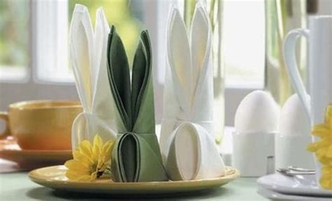 Easter Paper Napkin Folding - the of folding napkins for easter decorating creative
