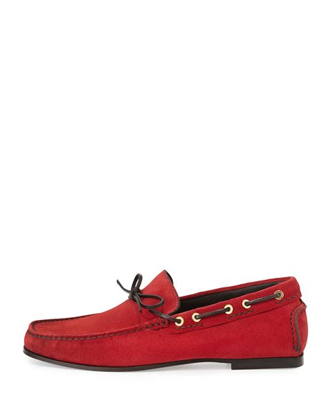 tom ford mens loafers tom ford suede driving loafer in for lyst