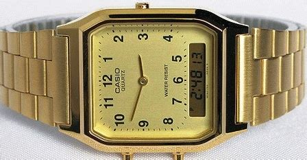 Jam Tangan Pria Casio Aq 230 jam tangan casio original aq 230 warna gold