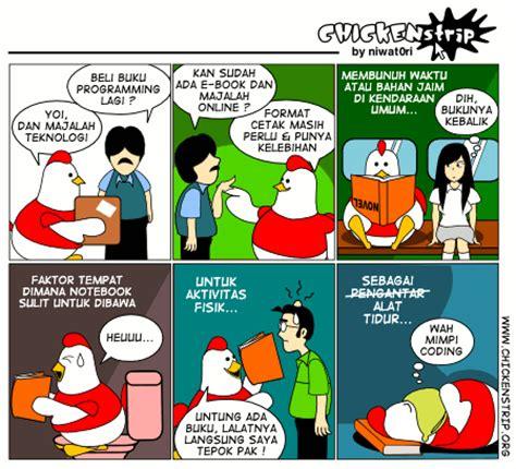 membuat latar belakang komik chickenstrip komik strip lucu karya anak indonesia