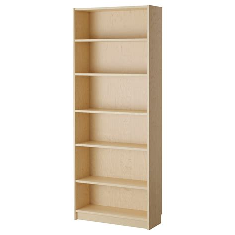 Billy Bookcase Birch Veneer 80x28x202 Cm Ikea Ikea Wood Shelves
