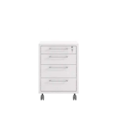 cassettiere da ufficio cassettiera da ufficio con ruote e 4 cassetti tvilum