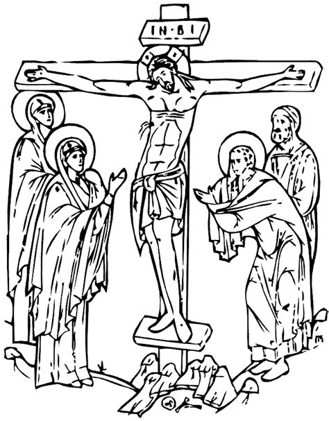 crucifixion coloring pages and 613 x 786 39 kb gif