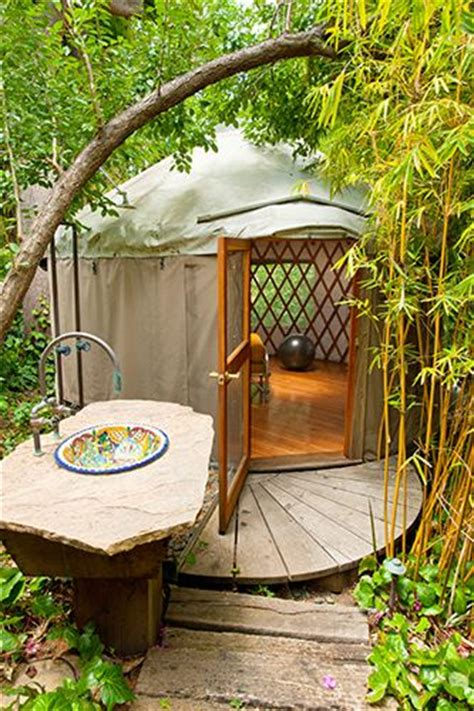 california modern backyard yurt outdoors for the home