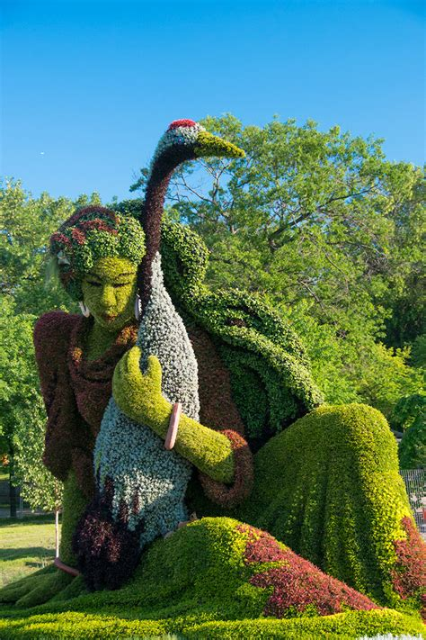 monumental plant sculptures at the 2013 mosaicultures