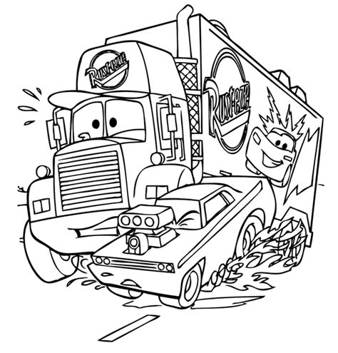coloring page big truck big truck coloring pages az coloring pages